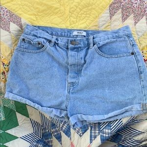 Forever 21 Button Down Jean Shorts size 30